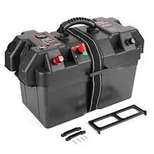 Minnkota – boîtier de batterie pour moteur à la traîne 12V, Station d'alimentation, Port de chargeur USB, plastique adapté aux groupes de Batteries de taille 24 et 27