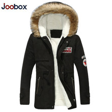 купить Parka Men Coats 2019 Winter Fleece Jackets Men Slim Thicken Fur Hooded Outwear Warm Coat Top Brand Clothing Casual Men's Tops дешево