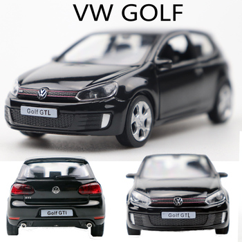 1:36 Volkswagen Golf Alloy Pull Back Car Model Diecast Metal Toy Vehicles 2 Open-doors For Kids Gift Free Shipping 1 36 benz e63 amg alloy pull back car model diecast metal toy vehicles 2 open doors for kids gift free shipping