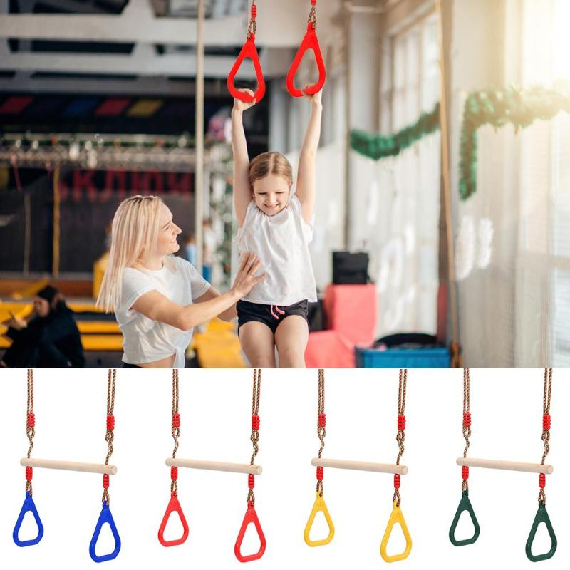 Kids Fitness Swing Rings Children Rings Swing Playground Flying Gym Rings Flying Pull Up Ring Sports Outdoor Garden Indoor Toys 1