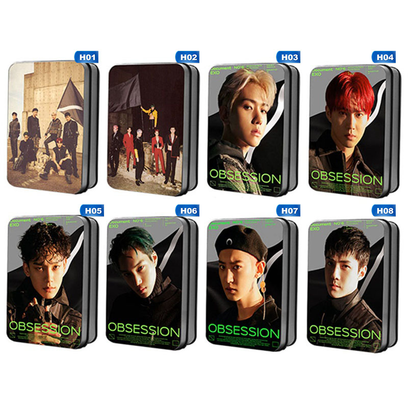 40pcs EXO 6th Obsession The Same LOMO Card Around Official Original Selected Photocard