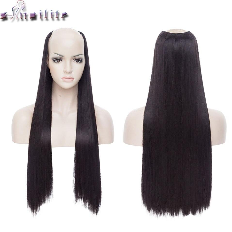 S noilite 24 дюйма длинные прямые клипсы в одной части Наращивание волос синтетический зажим в волосах черный коричневый поддельные волосы кусок для женщин|Синтетический цельный на клипсе|   | АлиЭкспресс