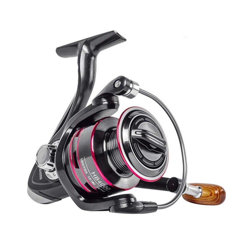 K8356 Fishing Reel Metal Spool Spinning Reel HB 1000-6000 8KG Max Drag Stainless Steel Handle Line Spool Saltwater Fishing Wheel
