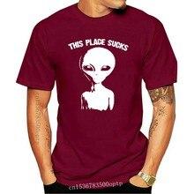 Goodie – t-shirt à deux manches pour hommes, t-shirt à personnaliser, noir, Alien Et Space