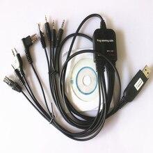 8in1 usb-кабель для программирования для YAESU BAOFENG UV-5R Kenwood для IC Retevis H777 Motorola CP040 CP125 CP140 радио