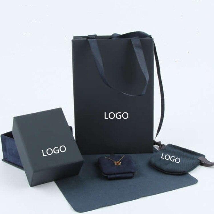 APM Original Gift Box Top Grade Jewellery Box Cardboard Box Necklace Ear Stud Ring Pendant Box Manufacturers Direct Selling