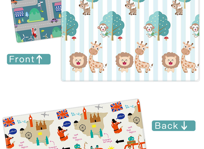 H43f5c4ffabcd40d09652531da18bedd1J Miamumi Portable Baby Play Mat XPE Foam Double Sided Playmat Home Game Puzzle Blanket Folding Mat for Infants Kids' Carpet Rug