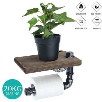 Support pour Papier Toilette en Bois