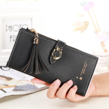 Women Wallets Lady Purses Clutch Coin Purse Money Bags Cards ID Holder Long Woman Wallet Handbags Burse Tassels Bag Cases цена в Москве и Питере