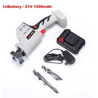 21V Lithium Reciprocating Saw Household Rechargeable Electric Knife Saw Multi function Cutting Logging Chainsaw+Li Ion Battery