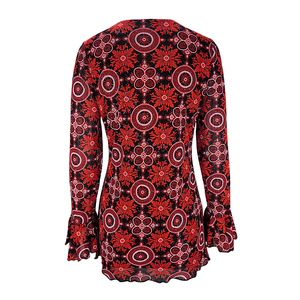 Image 2 - YTL Womens Plus Size Elegant Mature Floral Loose Tunic Top Shirt Sleeve Oversize Blouse Holiday Summer Shirt 6XL 7XL 8XL H036