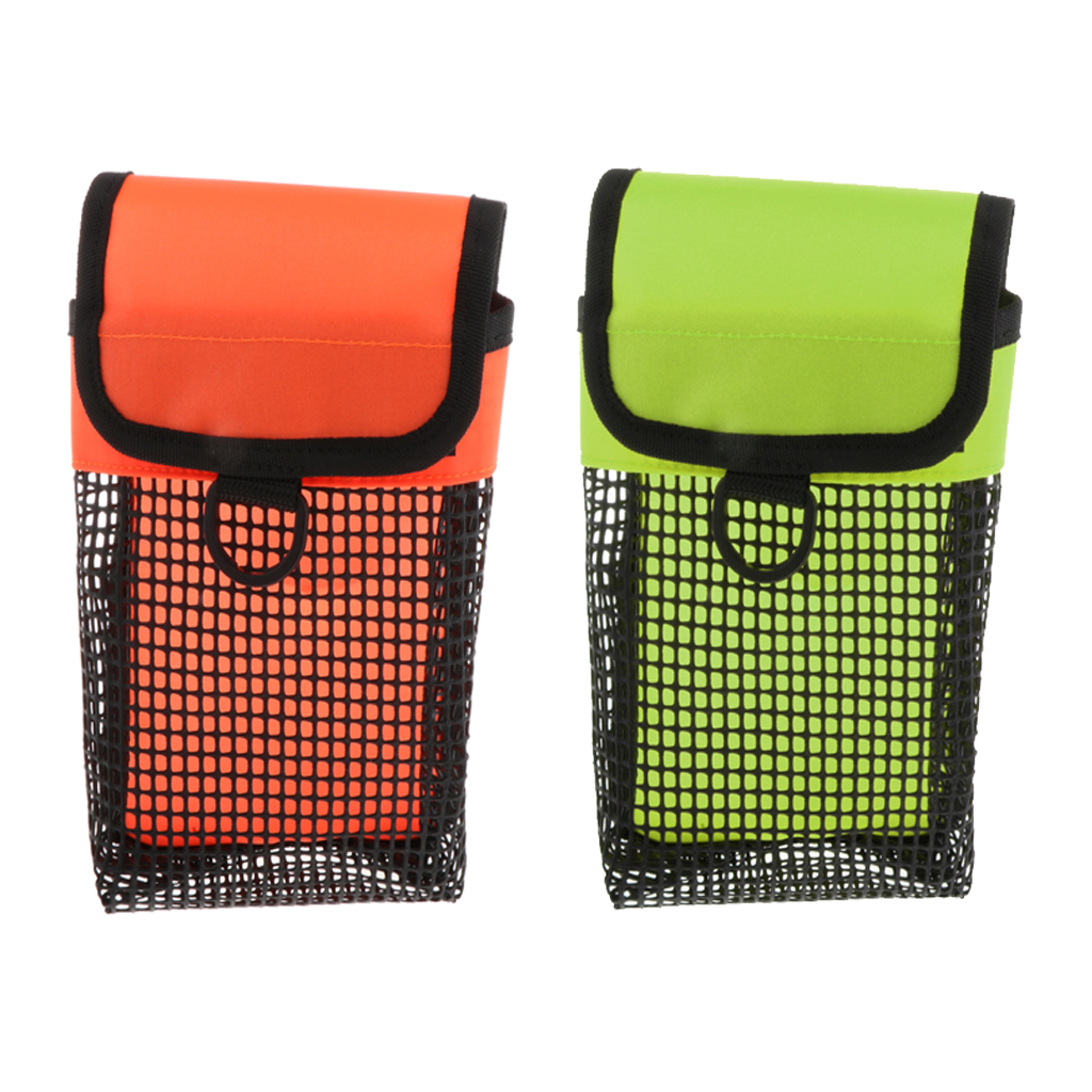 Scuba Diving Bag Finger Spool Reel Pouch SMB Safety Marker with Swivel Clip