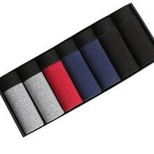 Caleçon en coton pour Homme, sous-vêtement en coton, grand Short respirant, résistant, Flexible