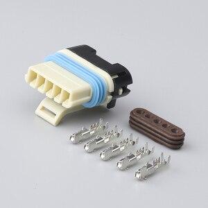 100 zestawów 5 Pin samochodowy zawór recyrkulacji gazów złącze kabla wodoodporny wtyk żeński gniazda