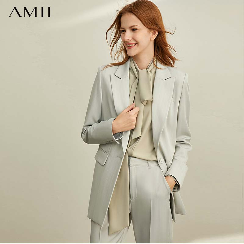 Amii   Professional Suit, Leisure Nine-minute Pants Women's New Slender Stripe Suit For Spring 11940440