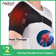 AGDOAD Electric Heat Therapy Adjustable Shoulder Brace Back Support Belt for Dislocated Shoulder Rehabilitation Injury Pain Wrap