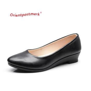 босоножки sweet shoes sweet shoes sw010awesyy8 Women Office Work Ballet Shoes Boat Shoes Black Women Wedges Casual PU leather Shoes Cloth Sweet Loafers Womens Classics Shoes