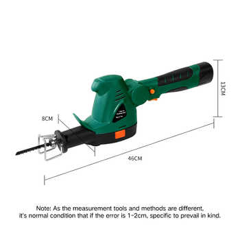 East Power Tools Rechargeable 10.8V Li-Ion Battery Cordless Electric Saw Garden Reciprocating Factory Direct Selling ET1302
