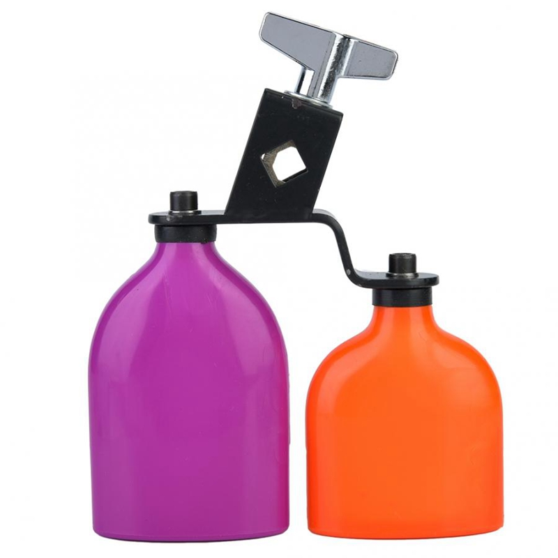 Orange & Purple Cowbell Cow Bell Wooden Fish Cattle Bell For Cheers Sport Games Wedding Cow Bell Drums Percussion Instruments