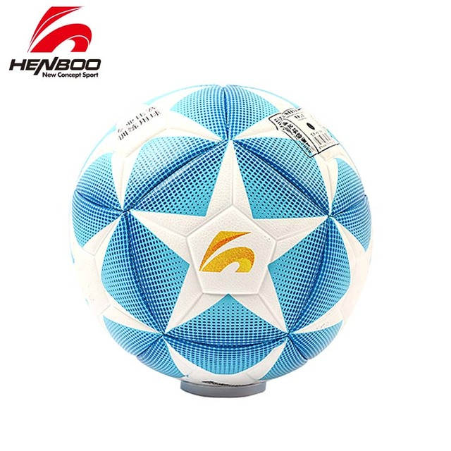 HENBOO Size 5 Football Ball Official Goal League Ball Training Ball Soccer Ball PVC Butyl Internal Bladder Outdoor Sports Soccer
