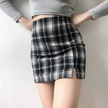 Модная Повседневная мини юбка в уличном стиле облегающая короткая