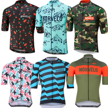 2020 New Morvelo Men pro team Cycling Jerseys Short Sleeve Mtb Bicycle Bike Cycling Clothing Maillot Ciclismo Hombre Maillot cheap CAURMAN Polyester spandex 2020 NEW PRO TEAM summer Spring AUTUMN Full Zipper Fits smaller than usual Please check this store s sizing info