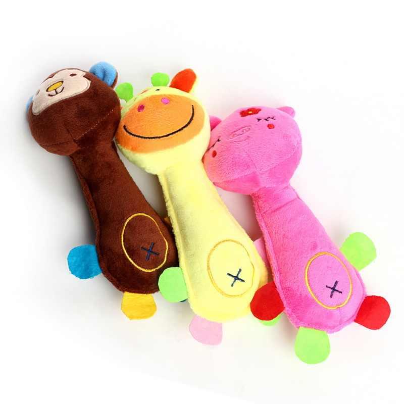 Juguete con chirrido para masticar gatos de felpa para perros pequeños y grandes, juguete para entrenamiento de mascotas, juguetes para perros, juguetes para perros jugando a masticar