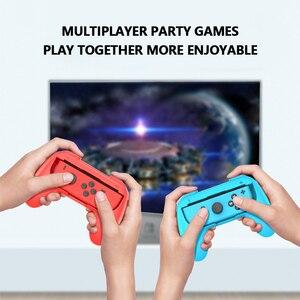 Игровая консоль с джойстиком Joy con, 2 шт., подставка, удобный держатель контроллера для Nintendo Switch, игры для двух игроков|Портативные игровые консоли|   | АлиЭкспресс