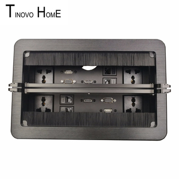Desktop socket / aluminum alloy drawing panel / information box socket / double cover socket / HDMI USB VGA network information