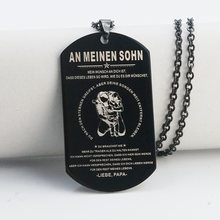 Ожерелье mylongingcharm черное военное 29x51 мм