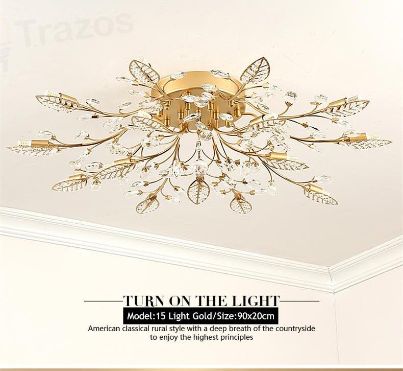 H43f76f1a5dcd4de4967843beb295768do TRAZOS New item fancy ceiling light LED Crystal ceiling lamp modern lamps for living room lights,AC110-240V DIY Crystal lighting