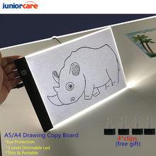 A4 3 nível pode ser escurecido led desenho placa de almofada para brinquedos do bebê a4 a5 tamanho pintura brinquedos educativos criatividade para crianças