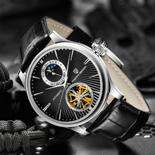 PAGANI Design Men Automatic Tourbillon Watch Fashion Luxury Mechanical Wristwatch Leather Waterproof Watch Men relogio masculino