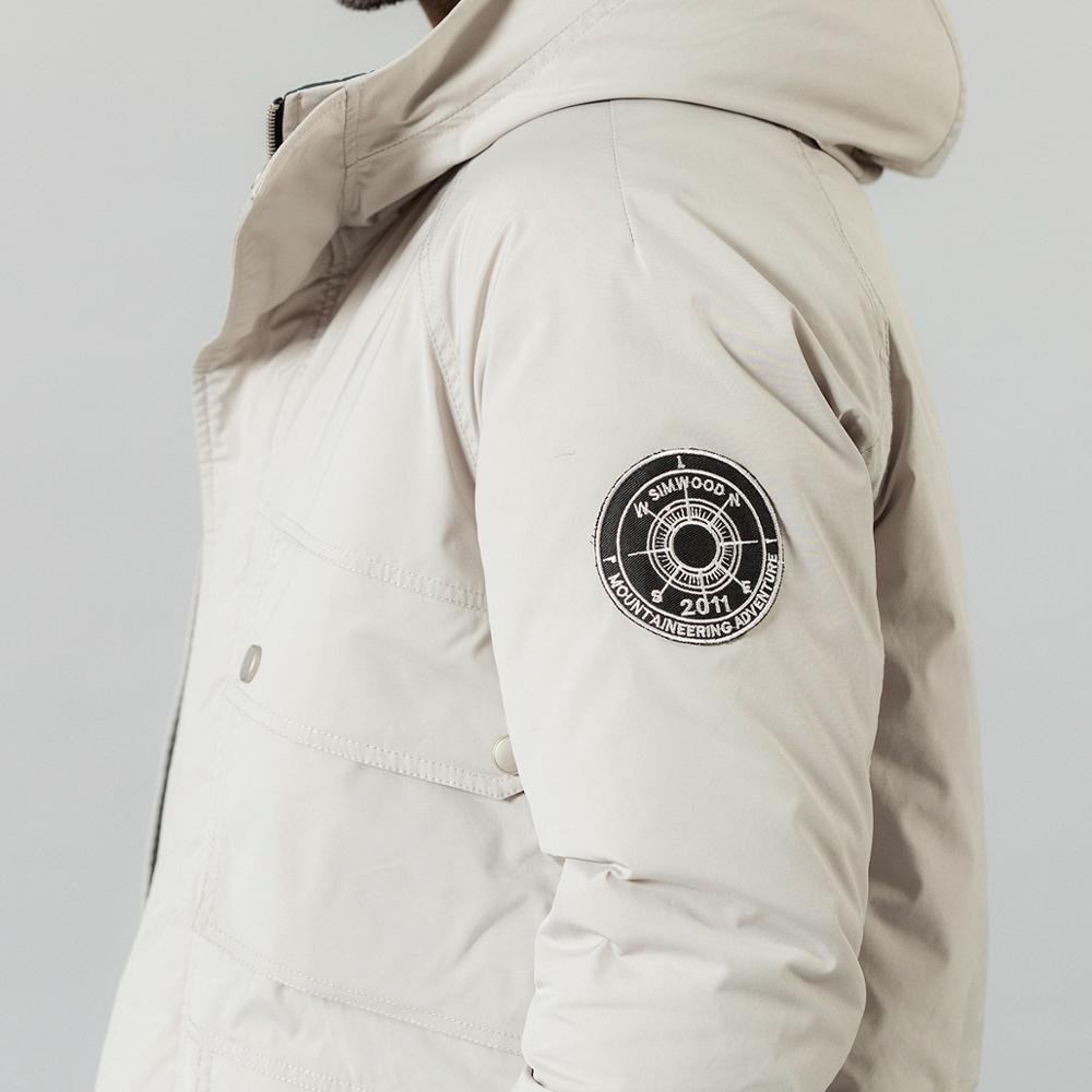 SIMWOOD 2019 hiver nouveau 90% blanc canard vers le bas manteaux hommes multi poches à capuche chaud vestes de haute qualité grande taille manteaux SI980618 - 6