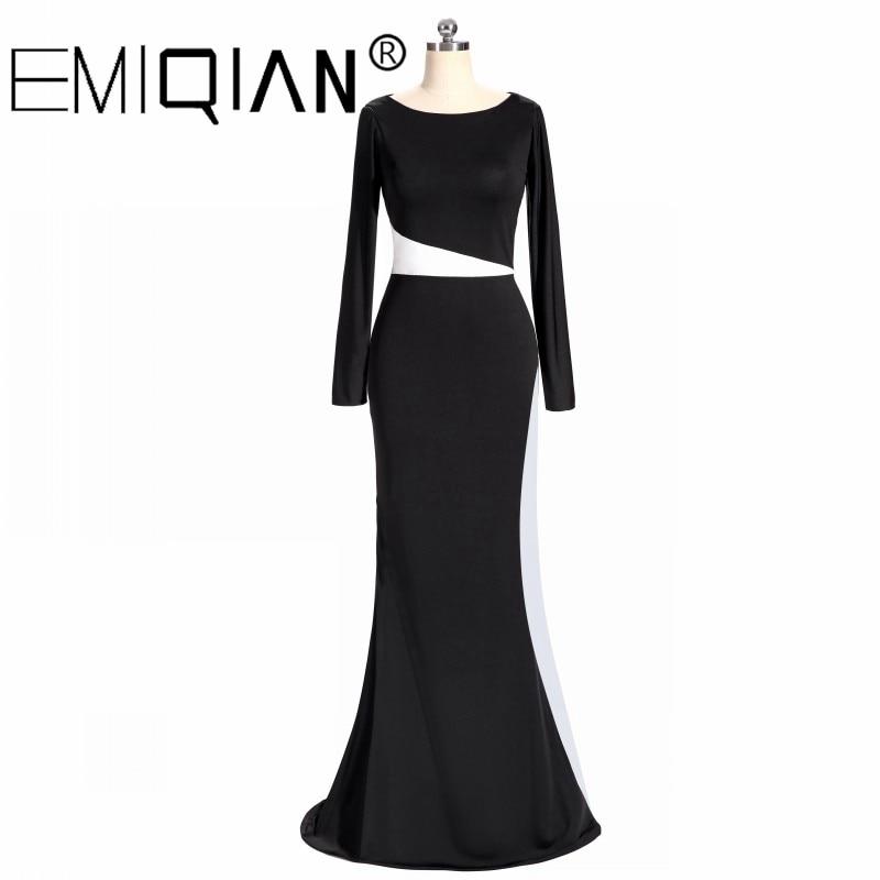 Vestiti Eleganti Bianco E Nero.Bianco E Nero Formale Dubai Caftano Elegante Manica Lunga Della