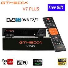 DVB T2 sintonizador Receptor para caja de tv digital DVB-T2 USB Receptor Wifi TV GTmedia V7 más DVB-S/S2 + T/T2 Receptor