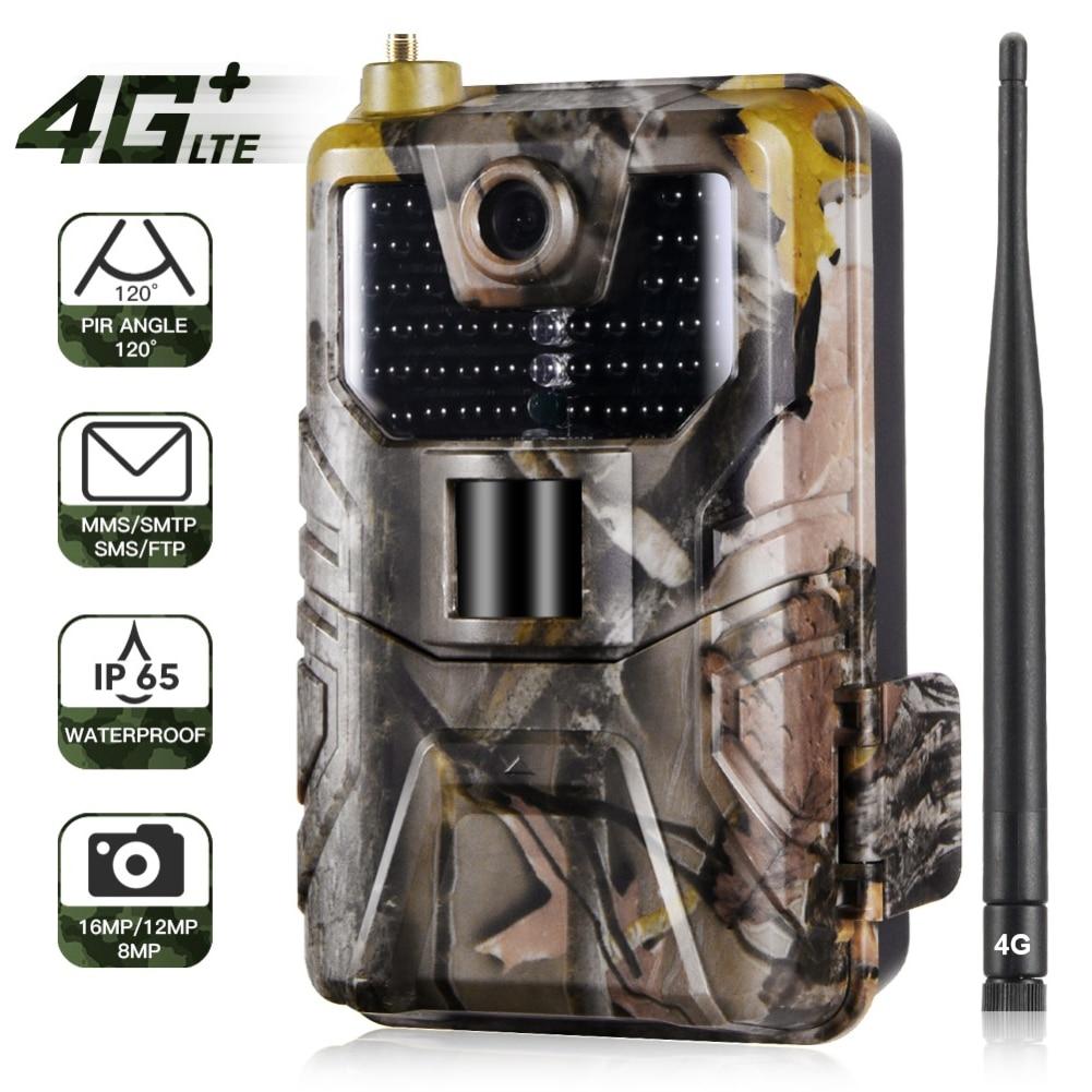HC-900LTE 4G Hunting Camera 16MP Trail Camera 940nm Photo Traps 0.3s MMS/SMS/SMTP/FTP Wild Camera 44LED Hunter Camera IP65