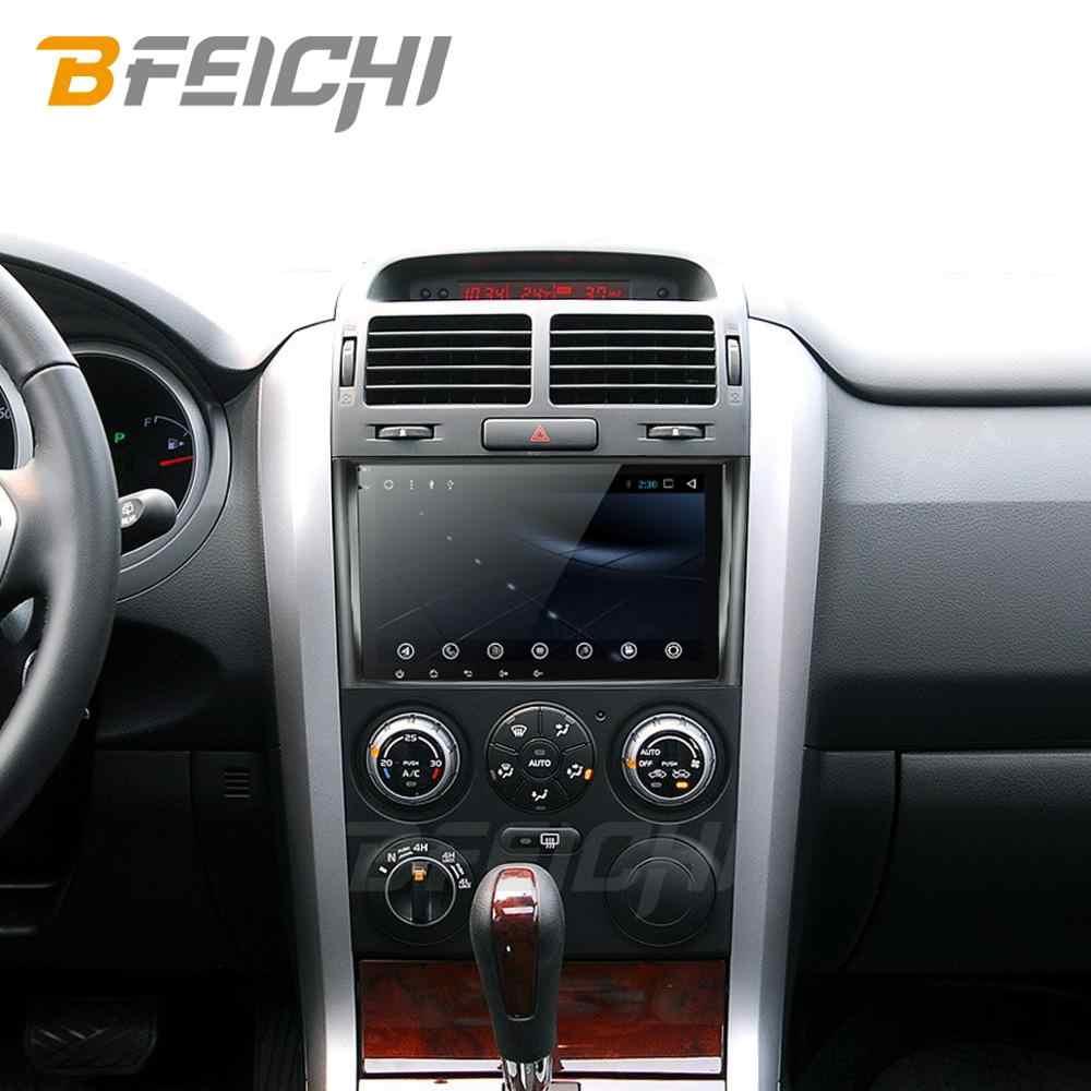 أندرويد 9.0 مشغل أسطوانات للسيارة لسوزوكي جراند فيتارا 2006-2011 الوسائط المتعددة سيارة راديو ستيريو لتحديد المواقع مع عجلة القيادة 2G + 32G الملاحة