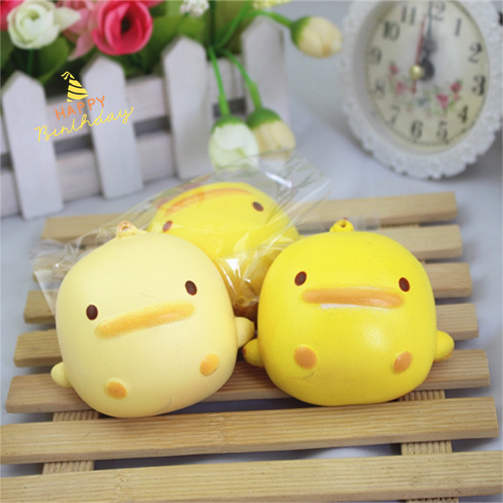 Toys For Children Baby Toys Squishy Cute Yellow Duck Bread Phone Straps Slow Rising Bun Charms Gifts Toys Kids Toys Juguetes