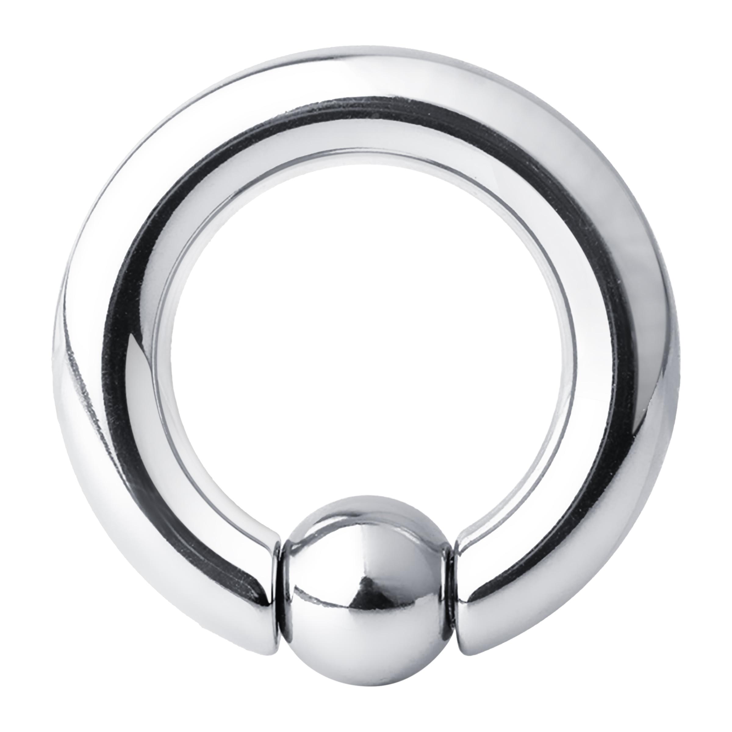 1PCS Stainless Steel Bead Hoop Earrings Nipple Nostril Large Ring.-0