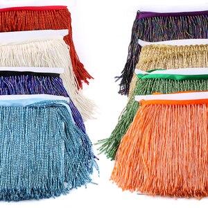 Image 1 - 15cm 5.5 מטרים עגול צינור חרוזים צבע חרוזים טאסל פרינג עם באיכות גבוהה לחתונה קישוט שמלת או DIY וילון לקשט