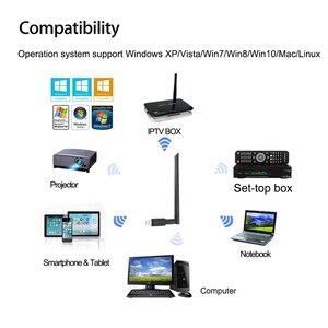 Image 3 - MTK7601 Wireless USB WiFi Antenna Network Youtube Adapter receptor GTMEDIA v7s satellite Receiver DVB S2 DVB T2 TV Box Internet