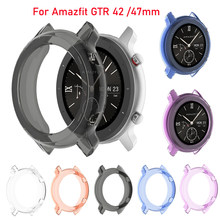 Ultra thin Case Cover Smart Watch belt Soft TPU Shell Protection Silicone Case For xiaomi huami Amazfit gtr 42 47mm Accessories(China)
