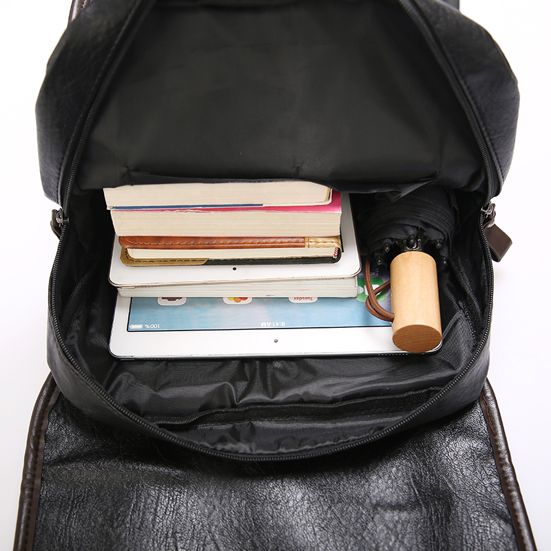 Image 5 - DIDA BEAR  Men Backpack Leather Bagpack Large laptop Backpacks Male Mochilas Retro Schoolbag For Teenagers Boys Travel BagBackpacks   -