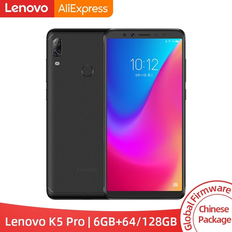 ROM globale Lenovo K5 Pro 6 GB RAM 64 GB/128 GB Snapdragon 636 Octa Core quatre caméras 5.99 pouces 4G LTE Smartphone 4050 mAh