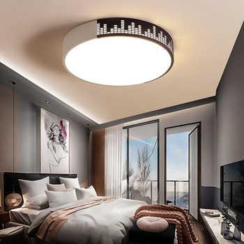 Modern High Brightness LED Circular Panel Light 50W Surface Mounted Led Ceiling Light AC 85-265V Lampada Led Lamp Bedroom