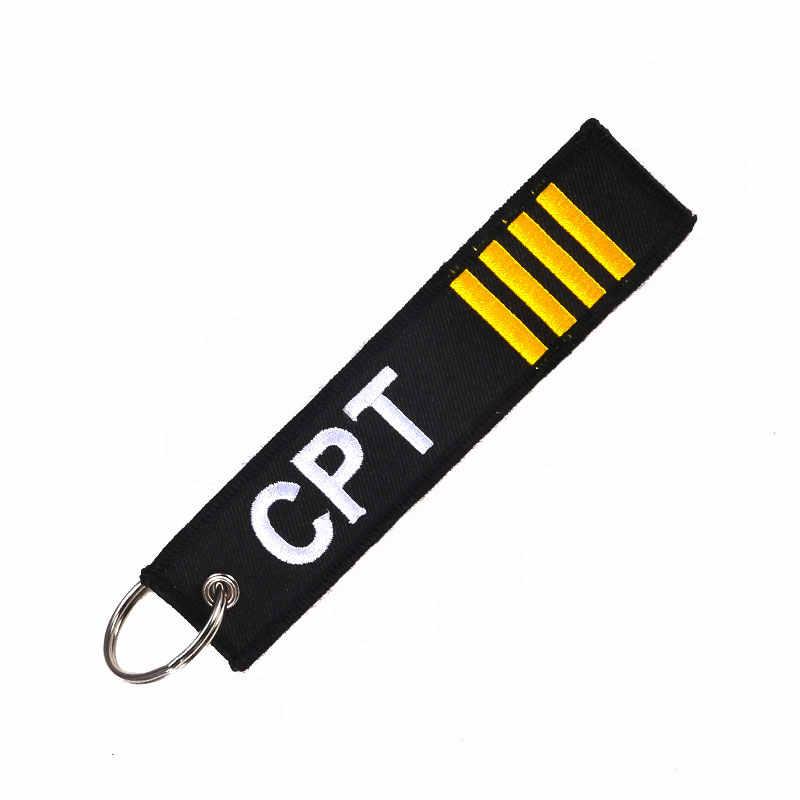 CLELO аксессуары цепочки для ключей Pilot аксессуары viaje бирка для дорожной сумки вышитая бирка для багажа брелок с этикеткой модный подарок