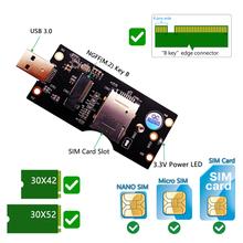 Trwała przenośna klasyczna tekstura praktyczna M 2 klucz B na USB 3 0 Adapter pulpit PC komputerowe karty rozszerzeń dla 3G 4G 5G tanie tanio ALLOYSEED NONE CN (pochodzenie) Przedłużacz kabla Computer Cables Zdjęcie