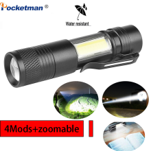 3800LM Multifunctional  LED Torch Q5 COB Super Bright Portable Waterproof Adjustable torch Use AA 14500 Battery Zoomable Light