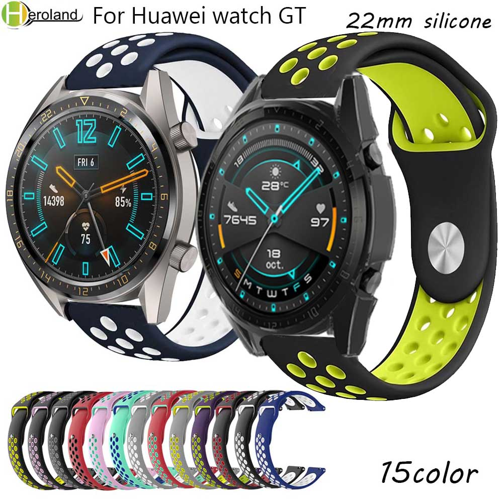 HERO IAND Watch Strap Band  For Huawei Watch GT 2 46mm Sport WatchBands Smartwatch 22MM Silicone For Huawei Watch GT 46mm / 42mm